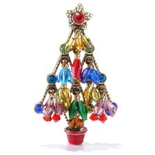 Christmas Tree Crystal Beads Pin