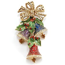 Christmas Enamel Bells Pin