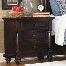 Davenport 3 Drawer Nightstand