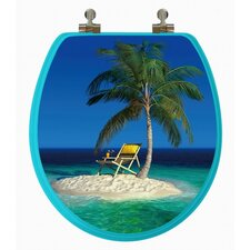 3D Series Beach Round Toilet Seat