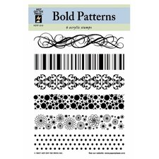 Bold Patterns Clear Stamp Set