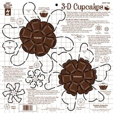 3D Cupcakes Craft Template