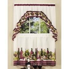 Chardonnay Rod Pocket Swag Valance and Tier Set