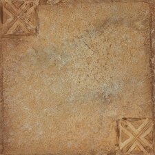 "Nexus 12"" x 12"" Vinyl Tile in Beige Clay With Motif"