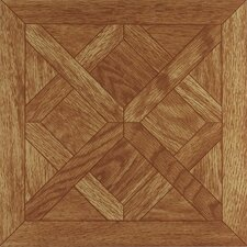 "Nexus 12"" x 12"" Vinyl Tile in Oak Parquet"