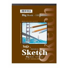 Premium Sketch Spiral Side Big Book (55 Sheets)