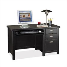 Tribeca Loft Black Single Pedestal Computer Desk