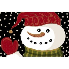 Snowman Hello Novelty Rug