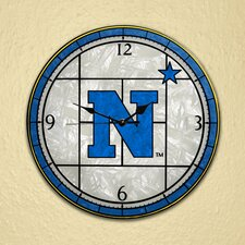 "NCAA 12"" Art Glass Clock"