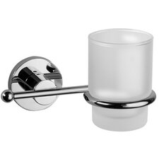 Bathroom Glass Tumbler with Holder