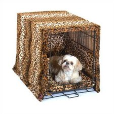 Designer Cratewear 3 Piece Dog Bedding Set in Leopard Print