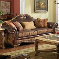 Toscano High Back Leather Sofa