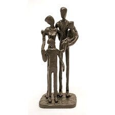 Family of Four Cast Iron Statue