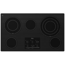 "36"" Tap Touch Controls Ceramic Glass Electric Cooktop"