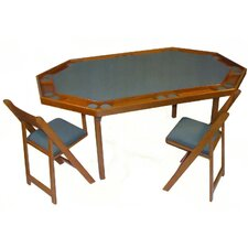 "72"" Deluxe Maple Folding Game Table"
