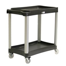 EcoStorage 2-Tier Commercial Grade Wheeled Utility Cart