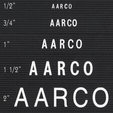 Single Tab Changeable Letters in Helvetica
