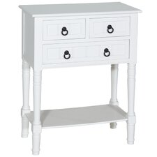 3 Drawer 1 Shelf Hall Table