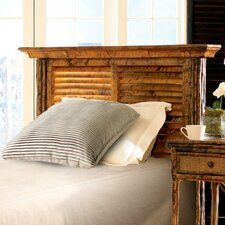 Coastal Chic Louvered Headboard