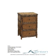 Coastal Chic 3 Drawer Nightstand