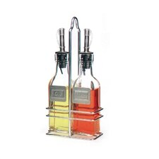 6 Oz Oil and Vinegar Bottle with Caddy (Set of 2)