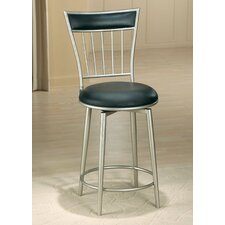 "Benson 30"" Black Vinyl Swivel Bar Stool"