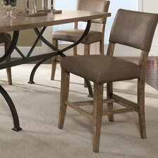 Charleston Parson Non-Swivel Counter Stool in Distressed Desert Tan (Set of 2)