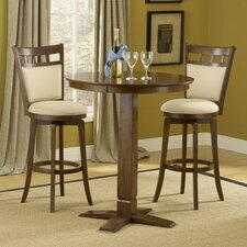 Dynamic Designs Gathering Table in Cherry Finish with Jefferson Swivel Bar Stools