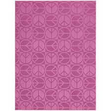Magic Odor Eliminating Pink Large Peace Rug