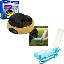 4 Meal Automatic Dog Feeder and Portable Water Dish