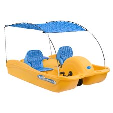 Equinoxx 5 Person Pedal Boat with Bimini Top and Seat Cushion