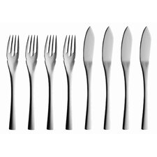 Sophia 8 Piece Fish Flatware Set