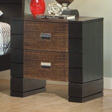 Geranium 2 Drawer Nightstand