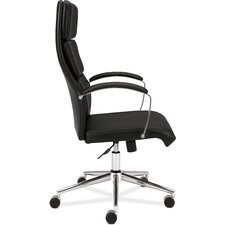 High Back Leather Executive Task Chair with Arms