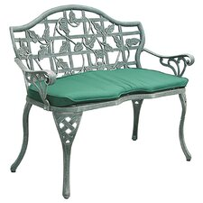 Ivy Cast Iron/Aluminum Garden Bench with Cushion