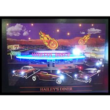 Haileys Diner Neon LED Poster Sign