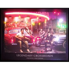 Legendary Crossroads Neon LED Poster Sign