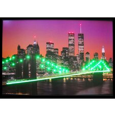 New York Skyline Lighted Print