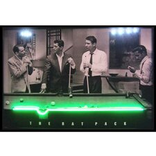 Rat Pack Neon LED Lighted Print