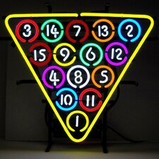 Business Signs 15 Ball Rack Neon Sign