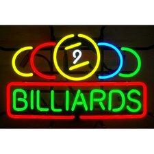 Business Signs 9 Ball Billiards Neon Sign