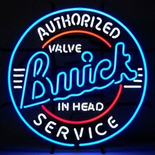 Cars & Motorcycles GM Buick Service Neon Sign