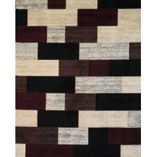 Melody Wine Stepping Stones Bricks Rug