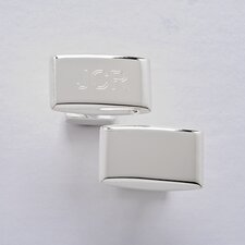 Sterling Silver Rectangular Cuff Link Set