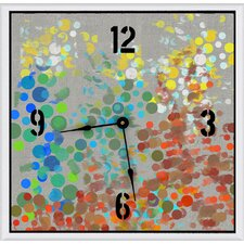 Party Circles Art Clock