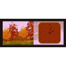 Fall Forest Art Clock