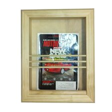 Bevel Frame Recessed Magazine Rack