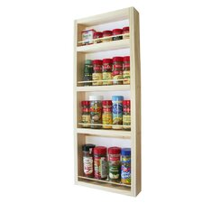"24"" On The Wall Spice Rack"