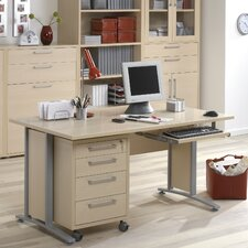 Pierce Executive Desk Top with Metal Legs