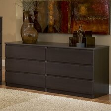 Scottsdale 6 Drawer Double Dresser